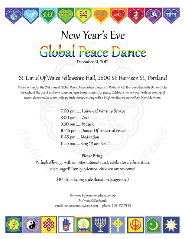 Global Peace Dance Flyer 2 - 72